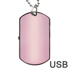 Beautiful,rose Gold,pattern Dog Tag Usb Flash (one Side) by 8fugoso