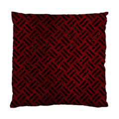 Woven2 Black Marble & Red Grunge Standard Cushion Case (one Side) by trendistuff