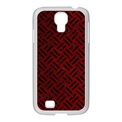 Woven2 Black Marble & Red Grunge Samsung Galaxy S4 I9500/ I9505 Case (white) by trendistuff