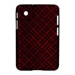 Woven2 Black Marble & Red Grunge Samsung Galaxy Tab 2 (7 ) P3100 Hardshell Case  by trendistuff