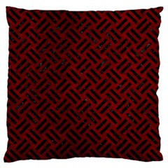 Woven2 Black Marble & Red Grunge Large Flano Cushion Case (two Sides) by trendistuff