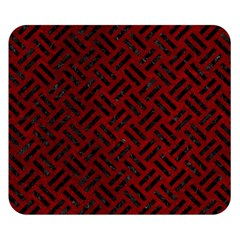 Woven2 Black Marble & Red Grunge Double Sided Flano Blanket (small)  by trendistuff