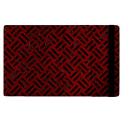 Woven2 Black Marble & Red Grunge Apple Ipad Pro 12 9   Flip Case by trendistuff