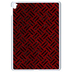 Woven2 Black Marble & Red Grunge Apple Ipad Pro 9 7   White Seamless Case by trendistuff