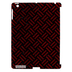 Woven2 Black Marble & Red Grunge (r) Apple Ipad 3/4 Hardshell Case (compatible With Smart Cover) by trendistuff