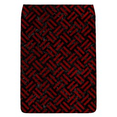 Woven2 Black Marble & Red Grunge (r) Flap Covers (l)  by trendistuff