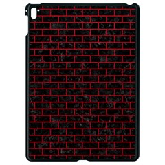 Brick1 Black Marble & Red Leather (r) Apple Ipad Pro 9 7   Black Seamless Case by trendistuff