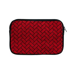 Brick2 Black Marble & Red Leather Apple Macbook Pro 13  Zipper Case by trendistuff