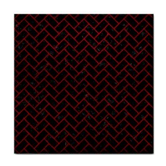 Brick2 Black Marble & Red Leather (r) Tile Coasters by trendistuff