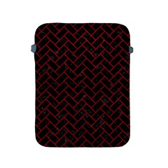 Brick2 Black Marble & Red Leather (r) Apple Ipad 2/3/4 Protective Soft Cases by trendistuff
