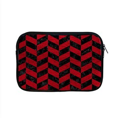 Chevron1 Black Marble & Red Leather Apple Macbook Pro 15  Zipper Case by trendistuff