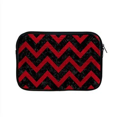 Chevron9 Black Marble & Red Leather (r) Apple Macbook Pro 15  Zipper Case by trendistuff