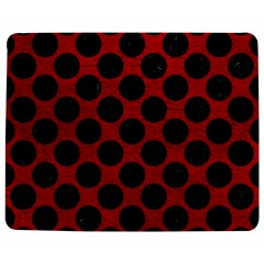 Circles2 Black Marble & Red Leather Jigsaw Puzzle Photo Stand (rectangular) by trendistuff