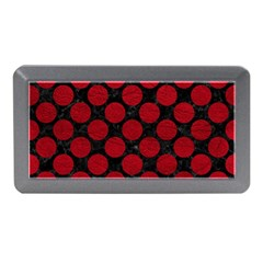 Circles2 Black Marble & Red Leather (r) Memory Card Reader (mini)
