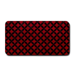 Circles3 Black Marble & Red Leather Medium Bar Mats by trendistuff