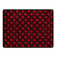 Circles3 Black Marble & Red Leather Fleece Blanket (small) by trendistuff