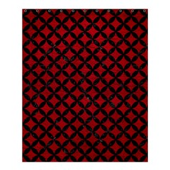 Circles3 Black Marble & Red Leather Shower Curtain 60  X 72  (medium)  by trendistuff