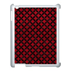 Circles3 Black Marble & Red Leather Apple Ipad 3/4 Case (white) by trendistuff