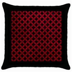 Circles3 Black Marble & Red Leather (r) Throw Pillow Case (black) by trendistuff