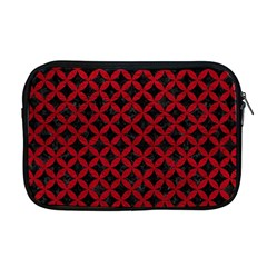 Circles3 Black Marble & Red Leather (r) Apple Macbook Pro 17  Zipper Case by trendistuff