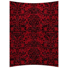Damask2 Black Marble & Red Leather Back Support Cushion by trendistuff