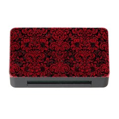 Damask2 Black Marble & Red Leather (r) Memory Card Reader With Cf