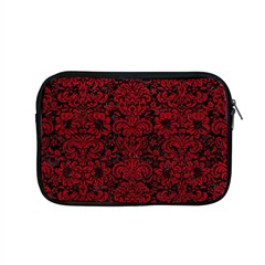 Damask2 Black Marble & Red Leather (r) Apple Macbook Pro 15  Zipper Case by trendistuff