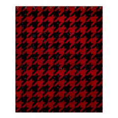 Houndstooth1 Black Marble & Red Leather Shower Curtain 60  X 72  (medium)  by trendistuff
