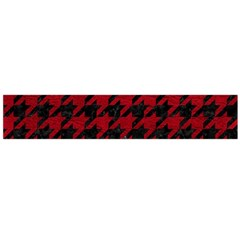 Houndstooth1 Black Marble & Red Leather Flano Scarf (large) by trendistuff