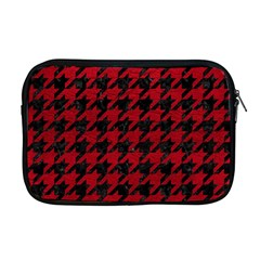 Houndstooth1 Black Marble & Red Leather Apple Macbook Pro 17  Zipper Case by trendistuff