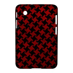 Houndstooth2 Black Marble & Red Leather Samsung Galaxy Tab 2 (7 ) P3100 Hardshell Case  by trendistuff