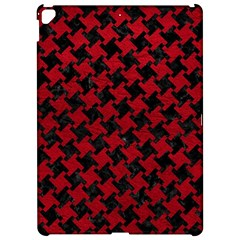 Houndstooth2 Black Marble & Red Leather Apple Ipad Pro 12 9   Hardshell Case by trendistuff