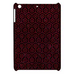 Hexagon1 Black Marble & Red Leather (r) Apple Ipad Mini Hardshell Case by trendistuff