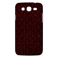 Hexagon1 Black Marble & Red Leather (r) Samsung Galaxy Mega 5 8 I9152 Hardshell Case  by trendistuff