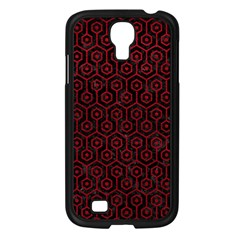 Hexagon1 Black Marble & Red Leather (r) Samsung Galaxy S4 I9500/ I9505 Case (black)