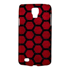 Hexagon2 Black Marble & Red Leather Galaxy S4 Active by trendistuff