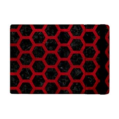 Hexagon2 Black Marble & Red Leather (r) Ipad Mini 2 Flip Cases by trendistuff