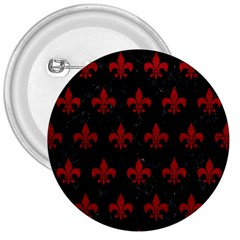 Royal1 Black Marble & Red Leather 3  Buttons by trendistuff