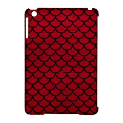 Scales1 Black Marble & Red Leather Apple Ipad Mini Hardshell Case (compatible With Smart Cover) by trendistuff