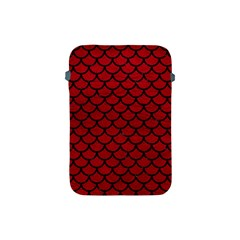 Scales1 Black Marble & Red Leather Apple Ipad Mini Protective Soft Cases by trendistuff