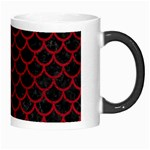 SCALES1 BLACK MARBLE & RED LEATHER (R) Morph Mugs Right