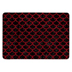 Scales1 Black Marble & Red Leather (r) Samsung Galaxy Tab 8 9  P7300 Flip Case by trendistuff