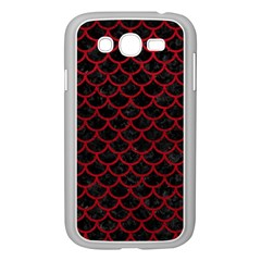 Scales1 Black Marble & Red Leather (r) Samsung Galaxy Grand Duos I9082 Case (white) by trendistuff