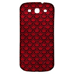 Scales2 Black Marble & Red Leather Samsung Galaxy S3 S Iii Classic Hardshell Back Case by trendistuff