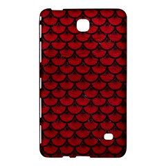Scales3 Black Marble & Red Leather Samsung Galaxy Tab 4 (8 ) Hardshell Case  by trendistuff