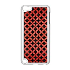 Circles3 Black Marble & Red Brushed Metal (r) Apple Ipod Touch 5 Case (white) by trendistuff