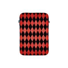 Diamond1 Black Marble & Red Brushed Metal Apple Ipad Mini Protective Soft Cases by trendistuff