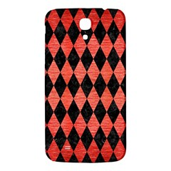 Diamond1 Black Marble & Red Brushed Metal Samsung Galaxy Mega I9200 Hardshell Back Case by trendistuff