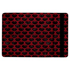 Scales3 Black Marble & Red Leather (r) Ipad Air Flip by trendistuff