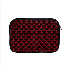 Scales3 Black Marble & Red Leather (r) Apple Macbook Pro 15  Zipper Case by trendistuff